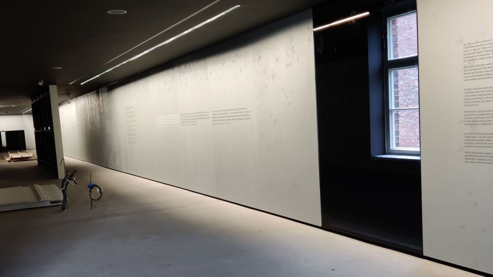 Installation of the new Austrian exhibition at the Auschwitz Memorial