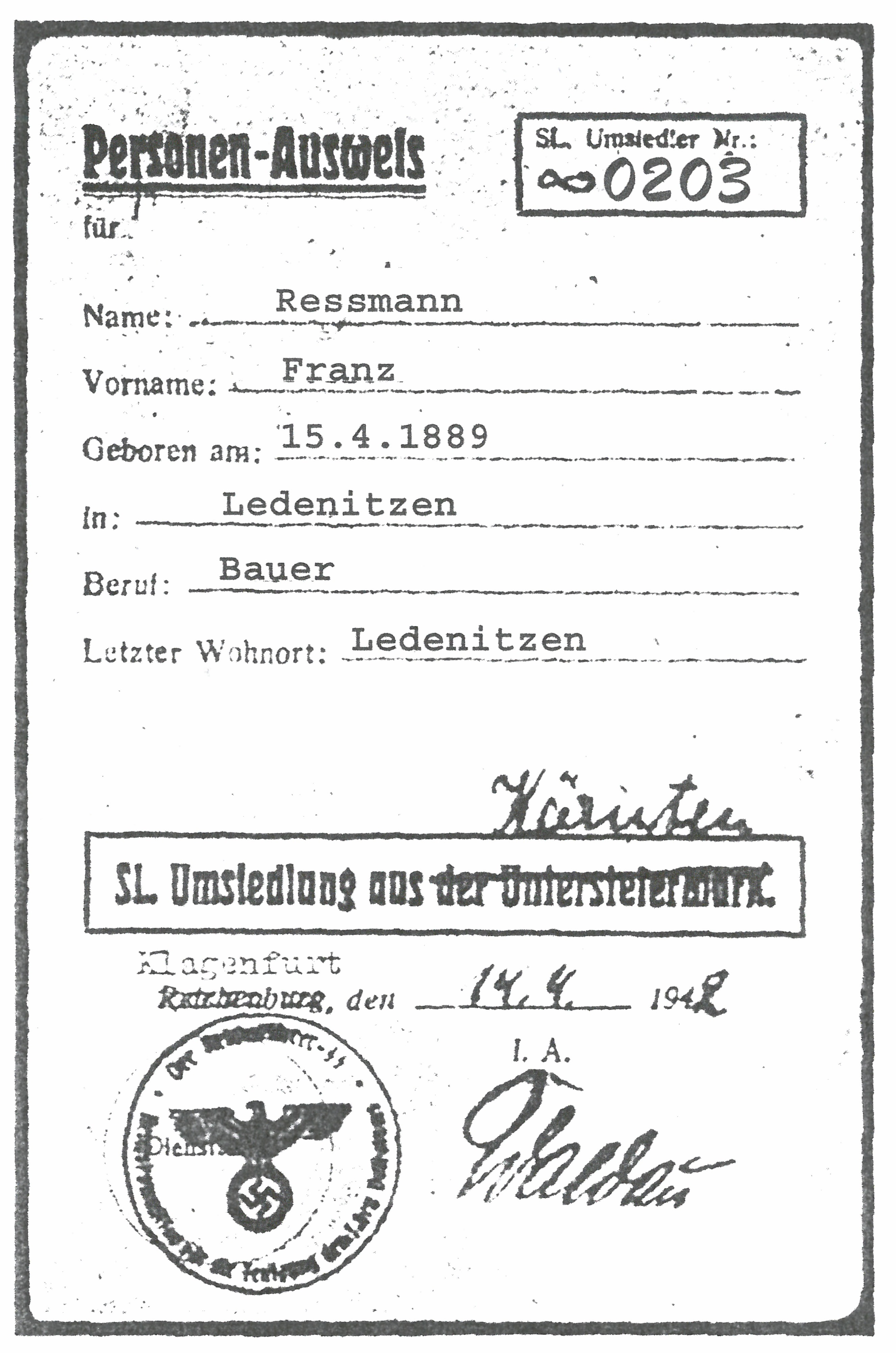 Franz Rehsmann - Nationalfonds der Republik Österreich für Opfer des ...